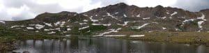 hiking pole panorama of lake 2