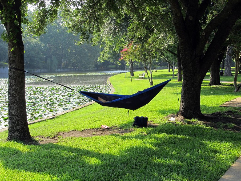 backpacking hammock Next to River