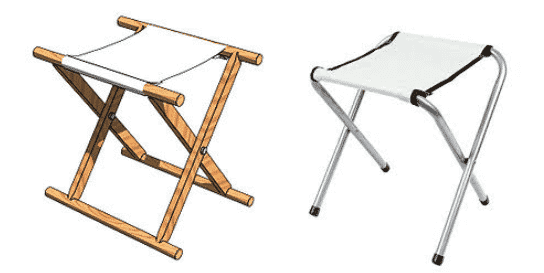 Camping Chair Camp Stools Old and New