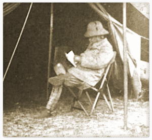 Theodore Roosevelt in a Fenby Camping Chair