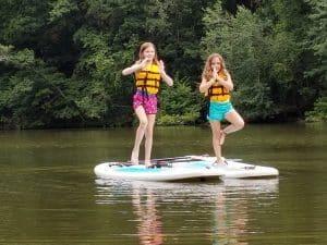Dry Bag Yoga on the lake