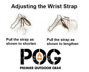 How to adjust lightweight trekking pole wrist straps.