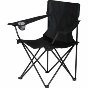 black steel and nylon camp chair