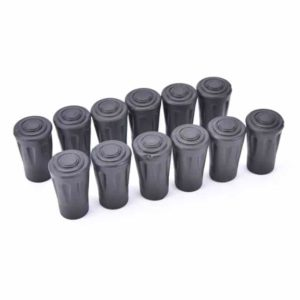 12 generic trekking pole rubber tips